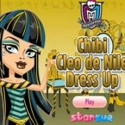 Школа Монстров: одень Клео (Chibi Cleo de Nile Dress Up)
