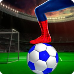 Футбол с Человеком-Пауком (SuperHero Spiderman Football Soccer League Game)